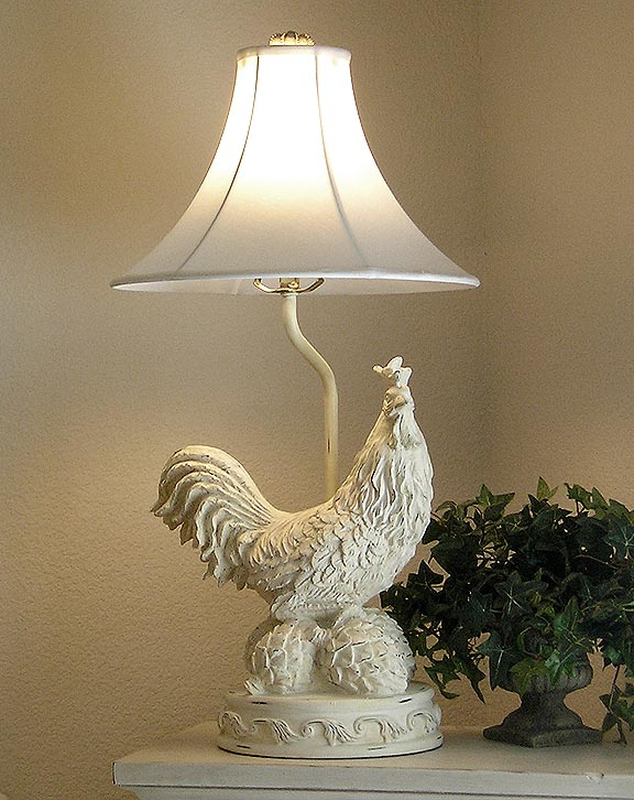 dale rooster table s tiffany accent lamp